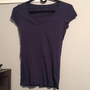 Aero Navy V-Neck Shirt. Size: S